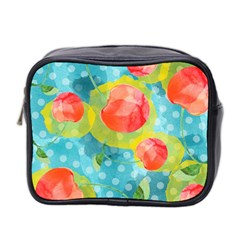 Red Cherries Mini Toiletries Bag 2 Side