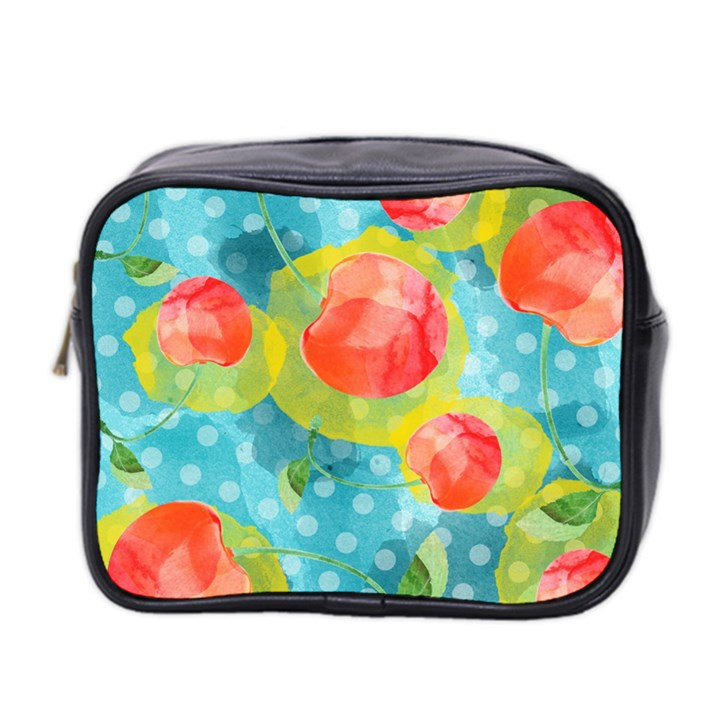 Red Cherries Mini Toiletries Bag 2-Side
