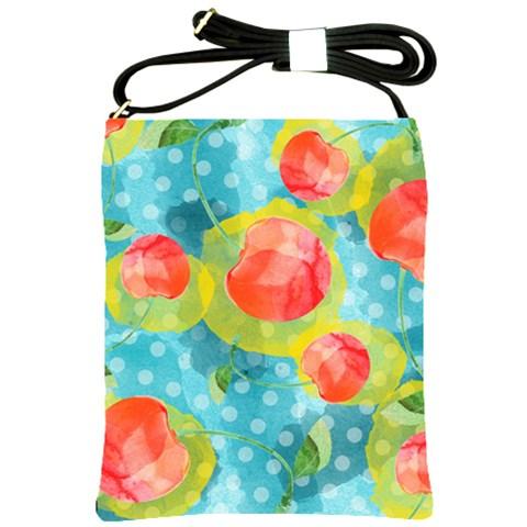 Red Cherries Shoulder Sling Bags