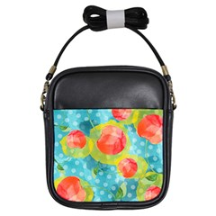Red Cherries Girls Sling Bags
