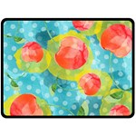 Red Cherries Fleece Blanket (Large)  80 x60 Blanket Front