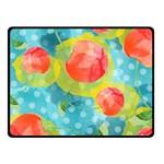 Red Cherries Fleece Blanket (Small) 50 x40 Blanket Front