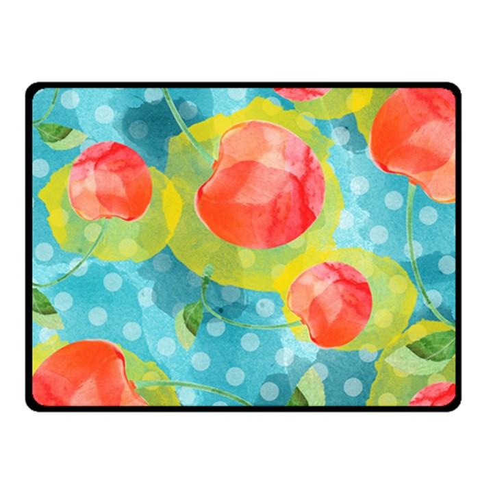 Red Cherries Fleece Blanket (Small)