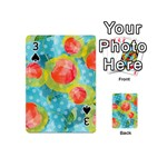 Red Cherries Playing Cards 54 (Mini)  Front - Spade3