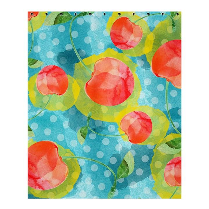 Red Cherries Shower Curtain 60  x 72  (Medium)