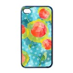 Red Cherries Apple iPhone 4 Case (Black) Front