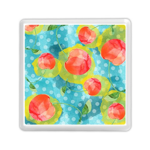 Red Cherries Memory Card Reader (Square)