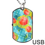 Red Cherries Dog Tag USB Flash (Two Sides)  Front