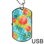 Red Cherries Dog Tag USB Flash (Two Sides)  Back