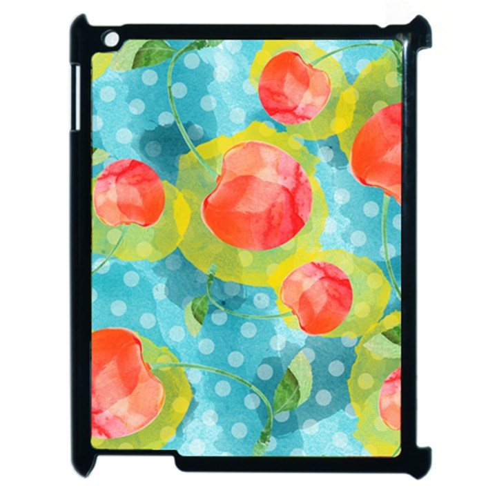 Red Cherries Apple iPad 2 Case (Black)