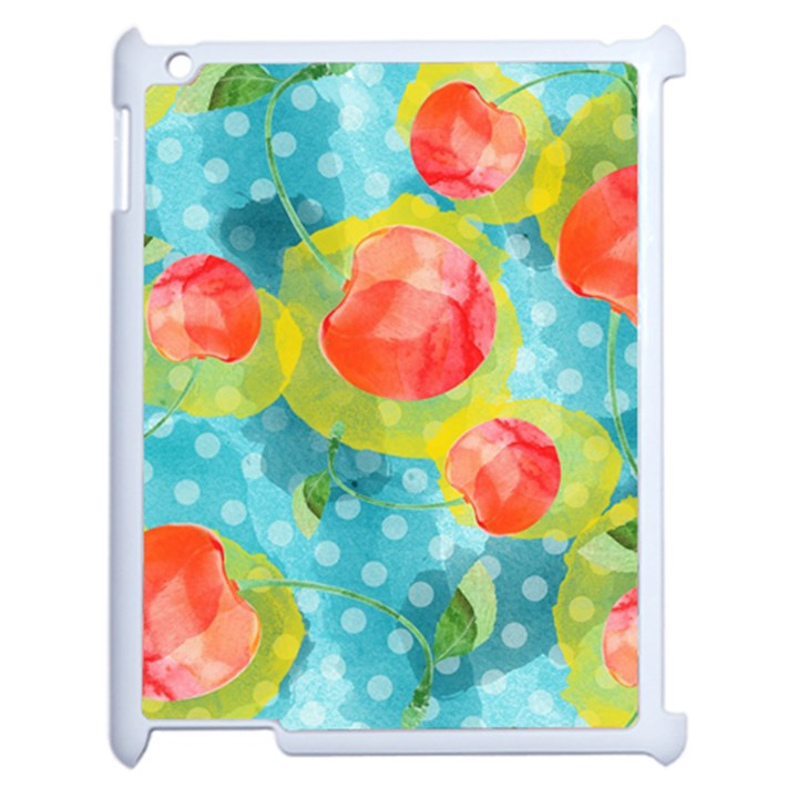 Red Cherries Apple iPad 2 Case (White)