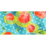 Red Cherries MOM 3D Greeting Card (8x4) Back