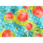 Red Cherries Circle Bottom 3D Greeting Card (7x5) Front