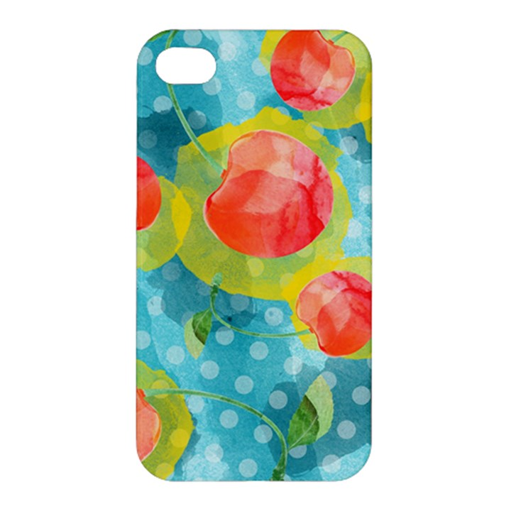 Red Cherries Apple iPhone 4/4S Hardshell Case