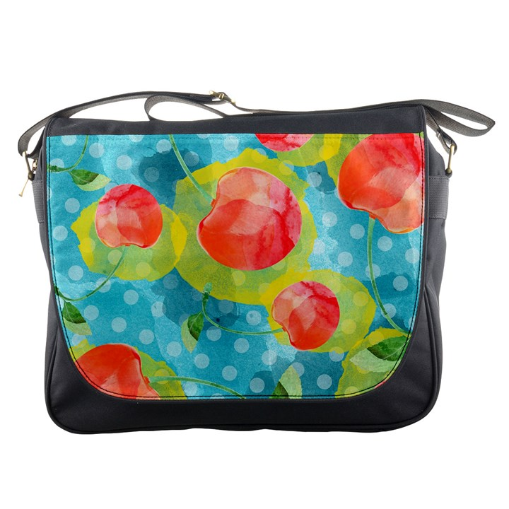 Red Cherries Messenger Bags