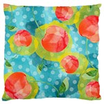 Red Cherries Large Cushion Case (Two Sides) Back