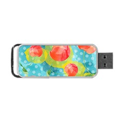 Red Cherries Portable Usb Flash (two Sides)
