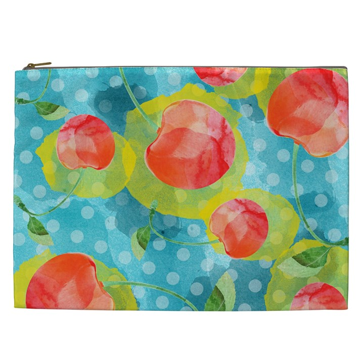 Red Cherries Cosmetic Bag (XXL)