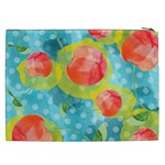 Red Cherries Cosmetic Bag (XXL)  Back