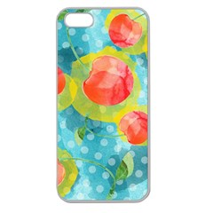 Red Cherries Apple Seamless Iphone 5 Case (clear)