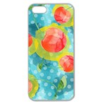 Red Cherries Apple Seamless iPhone 5 Case (Clear) Front
