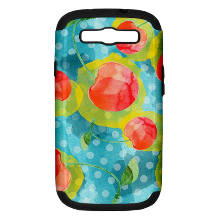Red Cherries Samsung Galaxy S III Hardshell Case (PC+Silicone)