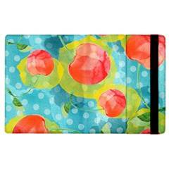 Red Cherries Apple Ipad 2 Flip Case