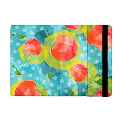 Red Cherries Apple iPad Mini Flip Case