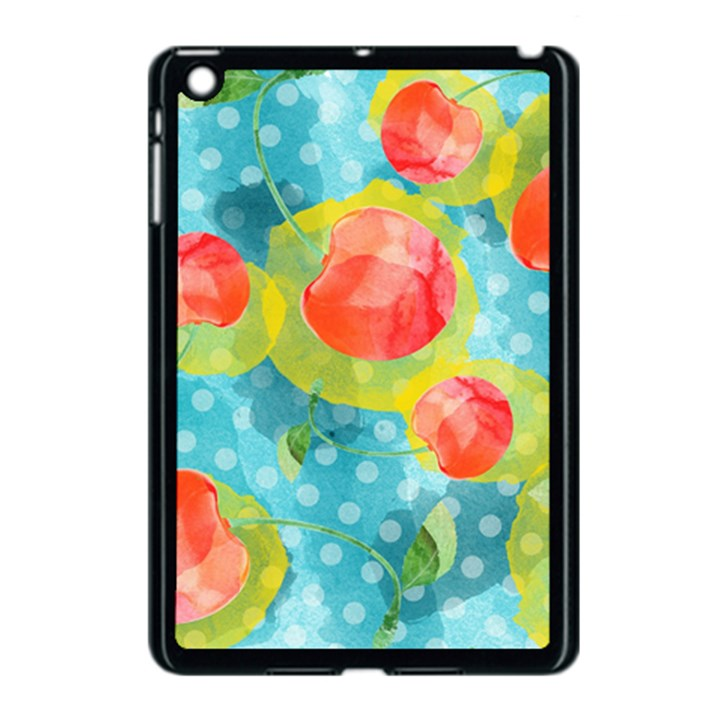 Red Cherries Apple iPad Mini Case (Black)