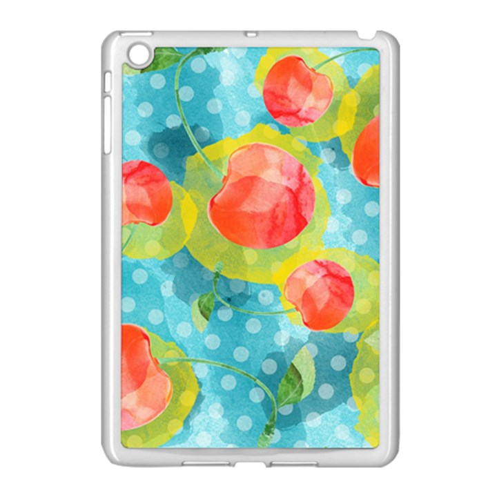 Red Cherries Apple iPad Mini Case (White)