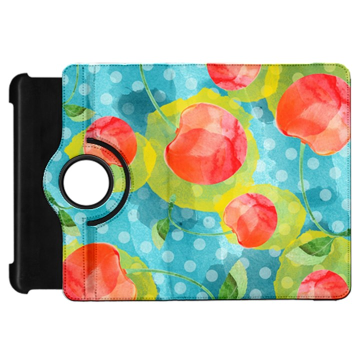 Red Cherries Kindle Fire HD Flip 360 Case