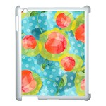 Red Cherries Apple iPad 3/4 Case (White) Front