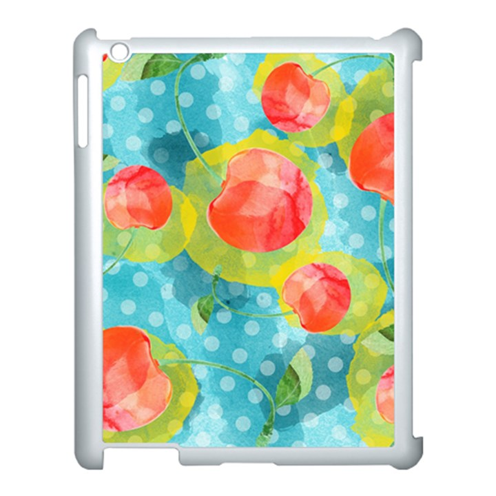 Red Cherries Apple iPad 3/4 Case (White)