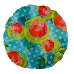Red Cherries Large 18  Premium Round Cushions Back