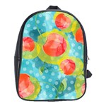 Red Cherries School Bags (XL)  Front