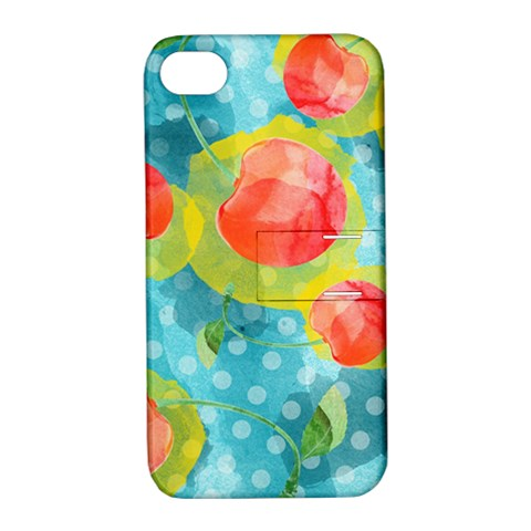 Red Cherries Apple iPhone 4/4S Hardshell Case with Stand