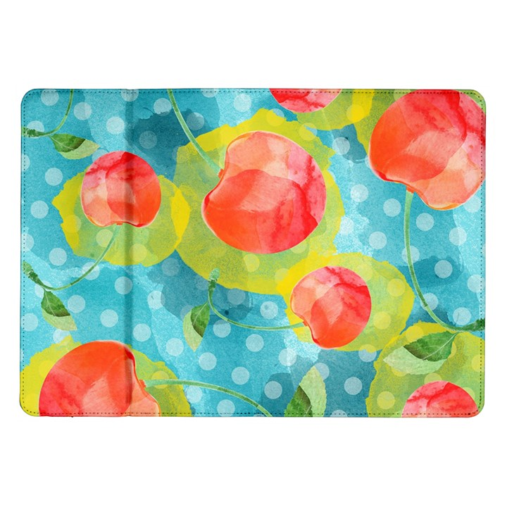 Red Cherries Samsung Galaxy Tab 10.1  P7500 Flip Case