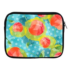 Red Cherries Apple Ipad 2/3/4 Zipper Cases