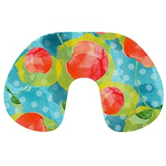 Red Cherries Travel Neck Pillows