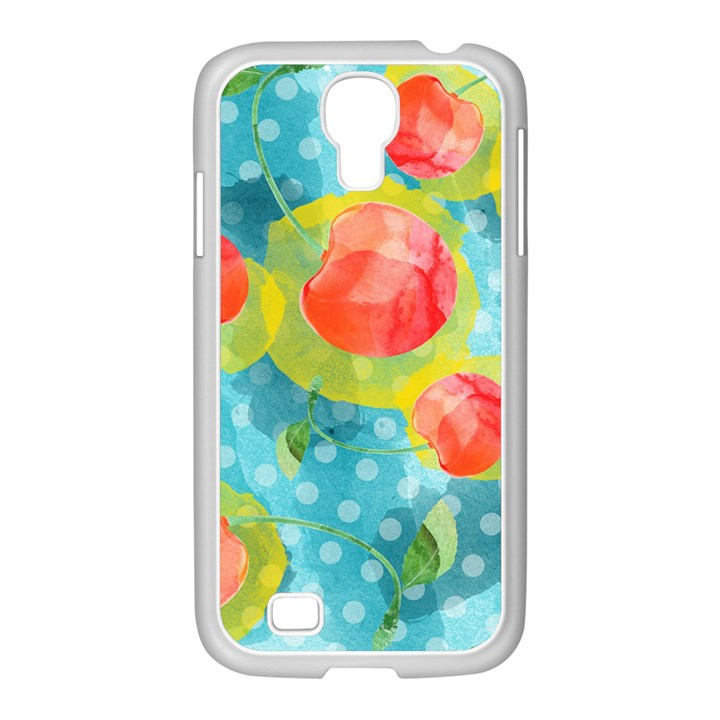Red Cherries Samsung GALAXY S4 I9500/ I9505 Case (White)