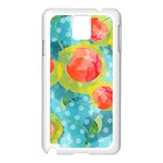 Red Cherries Samsung Galaxy Note 3 N9005 Case (White) Front