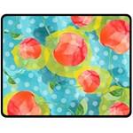 Red Cherries Double Sided Fleece Blanket (Medium)  60 x50 Blanket Front