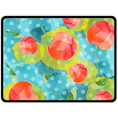 Red Cherries Double Sided Fleece Blanket (Large)