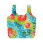 Red Cherries Full Print Recycle Bags (M)  Back