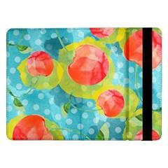Red Cherries Samsung Galaxy Tab Pro 12 2  Flip Case