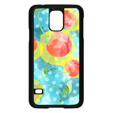 Red Cherries Samsung Galaxy S5 Case (Black)
