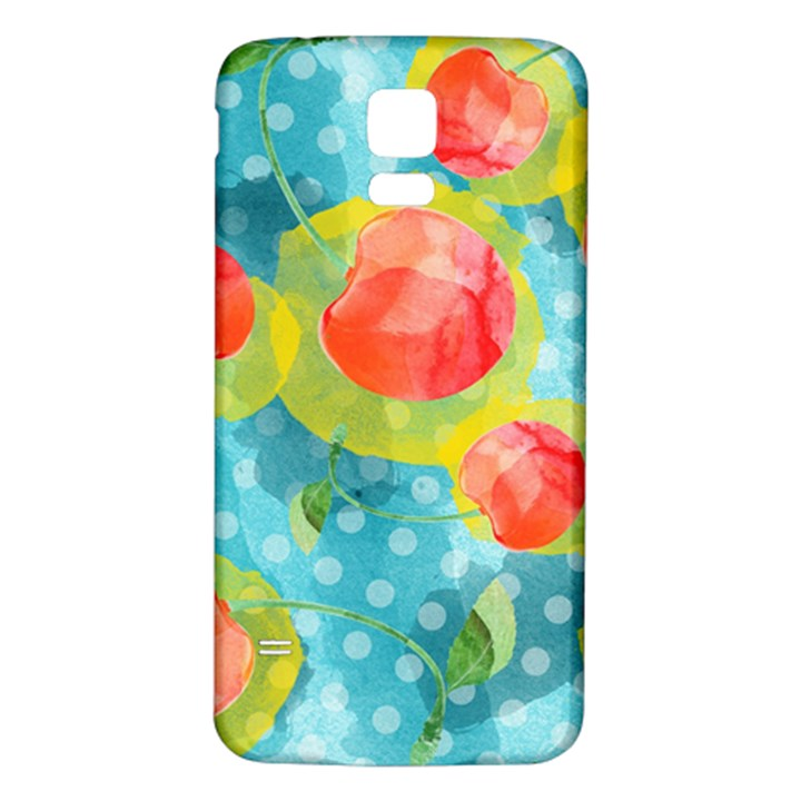 Red Cherries Samsung Galaxy S5 Back Case (White)