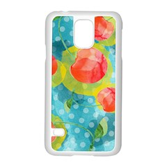 Red Cherries Samsung Galaxy S5 Case (White)