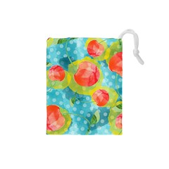Red Cherries Drawstring Pouches (Small)