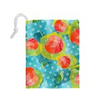 Red Cherries Drawstring Pouches (Medium)  Back